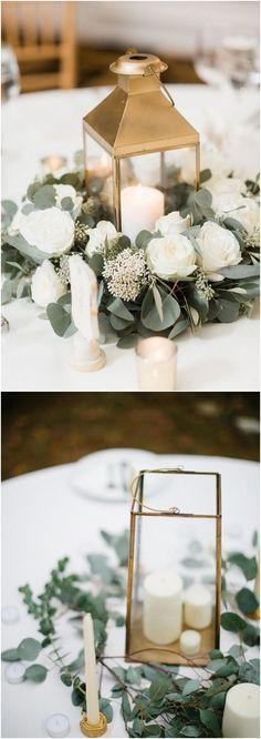 Greenery eucalyptus rustic wedding centerpieces #green #wedding #weddingideas #dpf #deerpearlflowers / see more ❤️ http://www.deerpearlflowers.com/eucalyptus-wedding-decor-ideas/