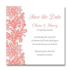 Lace Effect Save The Date