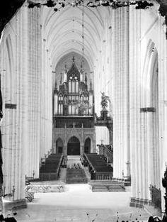 Interiör i Uppsala domkyrka, Uppsala 1860-tal