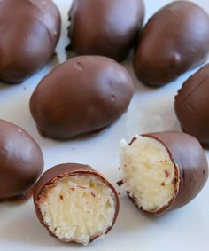 No Bake Coconut Cream Eggs · Cook Heavenly Recipes Easter Recipes, Holiday Recipes, Coconut Easter Eggs Recipe, Candy Recipes, Dessert Recipes, Mini Desserts, Coconut Balls, Soften Cream Cheese, Melting Chocolate Chips