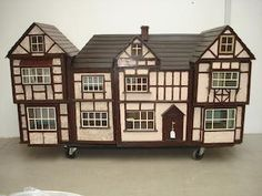 A large and impressive dolls house, English circa 1910