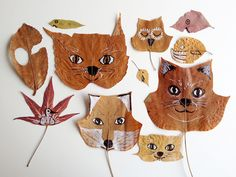 diy leaf animals...i'm so gonna make this with my girls...