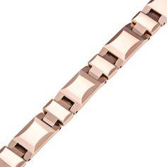Stunning Heavy Solid Tungsten Carbide Men's Link Bracelet Bronze