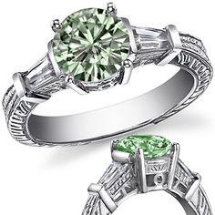 Green Moissanite