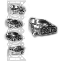 Australian Made Sterling Silver Ford XY GT Wrap around tyre (tire) ring. Made to order. Gold also available. Silver Ring Designs, Handmade Jewelry Designs, Belt Buckles, Tire Ring, Sterling Silver Rings, Rings For Men, Ford, Wedding Rings, Pendants