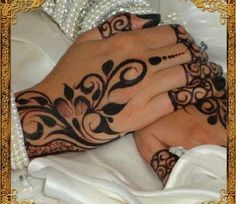 Beautiful black henna