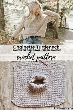 Crochet Jumper Pattern, Sweater Knitting Patterns, Crochet Patterns, Diy Crochet Cardigan, Crochet Sweater Design, Crochet Yoke, Crochet Sweaters, Crochet Turtle, Chunky Crochet
