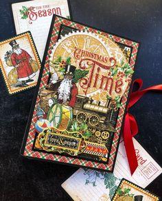 Christmas Mix, Christmas Albums, Twelve Days Of Christmas, Christmas Photos, Christmas Cards, Holiday Cards, Christmas Ideas, Mini Album Tutorial, Card Envelopes