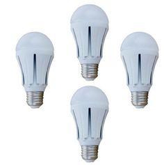 LUMEN Lampadine Led 2700-3000K 12V 10W E27 4PZ per Fotovoltaico Impianto Isola Lampada Luce Calda Angolo Illuminazione 180�