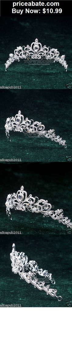 Bridal-Accessories: Bridal Crystal Tiara Wedding Prom Pageant Crown Veil Hair Accessory Headband  - BUY IT NOW ONLY $10.99