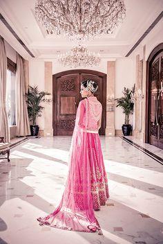 Anita Dongre Pink Embroidered #Lehenga.