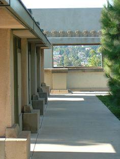 Aline Barnsdall Hollyhock House, East Hollywood, California, 1919–1921. Frank Lloyd Wright