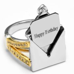 Birthday present made easy. Just let us know the ring size. Personal note possible.