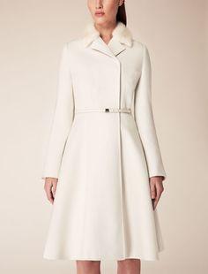Max Mara GILLES ivory: Wool coat. 985€