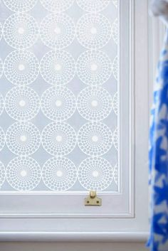 Fantastic for our new bathroom window.  Pearl window film that allows light in and works like frosted glass!