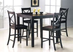 Kitchen High Top Kitchen Tables And Chairs With Black Chairs Using ...
