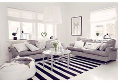 gray. black. white. especially love the rug and the white floors!