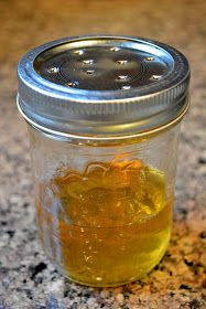 Get Rid of Fruit Flies the Natural Way ~   Jar with lid  1/2 cup Apple Cider Vinegar  2 drops Dish Soap
