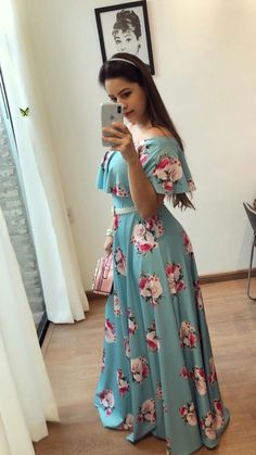 133 spring dresses you will definitely want to save – page 13 Cute Dresses, Beautiful Dresses, Casual Dresses, Girls Dresses, Modest Fashion, Hijab Fashion, Fashion Dresses, Skirt Outfits, Dress Skirt