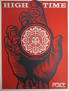Shepard Fairey - Urban Art - High time for peace - Poster Shepard Fairey Art, Shepard Fairy, Pop Art, Obey Art, Graffiti, Political Art, Art Moderne, Art Graphique, Street Artists