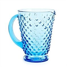 Vintage Glass Pitcher Blue - This just screams margaritas or sangria and would be perfect for those great summer dinners served out on the deck with good food and great friends!