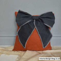 Bow Linen Cushion - http://www.interiordesign-blog.co.uk/interior-design-ideas/bow-linen-cushion.html