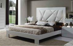 cabeceras de cama tapizadas - Buscar con Google Bedroom Furniture, Bedroom Decor, Wood Headboard, Headboards, Bed Back, Master Room, Double Beds, Bed Design, Decoration