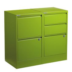 """Our 2- and 3-Drawer File Cabinets from Bisley are unequaled in design and construction.  The ultimate in file cabinetry features single-frame, welded-corner construction, ball-bearing drawer glides, recessed handles and security locks. The 2-Drawer model features two letter-size hanging file drawers; the 3-Drawer features one.  Because it's 29"""" high, it makes the perfect support for one or both ends of a elfa Custom Desk Solution.  Make sure you have enough letter-size files (sold s..."""