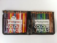 Vintage PLATIGNUM Set of 24 NON-TOXIC Colour Pencils. England. Mechanical Pencil Lead, Mechanical Pencils, Ink Color, Colour, Liquid Ink, Nice Handwriting, Pencil Boxes, Pen Sets, Trendy Colors