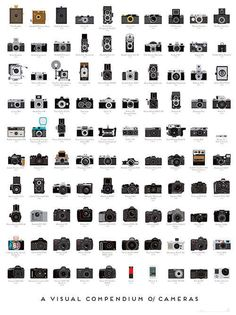 Cumulative Lomography Posters - Pop Chart Lab Compiled a Comprehensive Camera Collection Chart (GALLERY)
