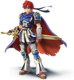 """Roy (or as I like to call him, """"Ginger Marth"""") finally returns!! :D After playing the 3DS version, he does feel a bit less like a Marth clone :)"""