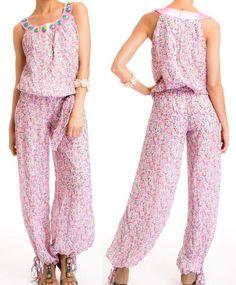 NEU Damen Overall S 36 Jumpsuit Hosenanzug Pump Blumen romantisch