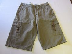 Columbia Shorts 36 Brown Vertex Flat Front Cargo Hiking Mens #Columbia #CasualShorts