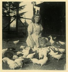 Vintage Photo The Chicken Maiden Photography Paper by dawnandross on Etsy