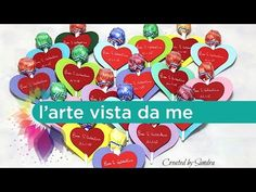 Cuori San Valentino per bambini Tutorial - idea regalo chupa chups - Big Shot Sizzix tutorial - YouTube