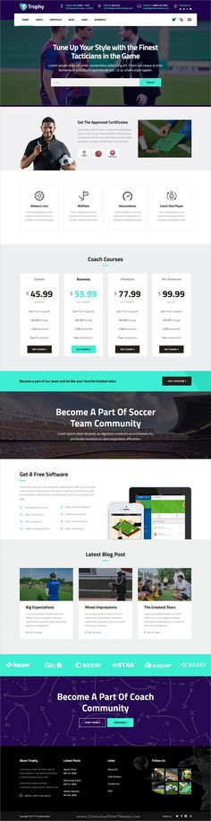 Trophy is a dynamic 6in1 responsive #WordPress theme for #football #club, sports and coaching trainers website download now➩ https://themeforest.net/item/trophy-a-dynamic-soccer-club-sports-and-coaching-theme/19601012?ref=Datasata