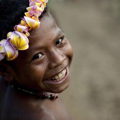 Trobriand kid smile - Papua New Guinea