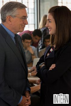 Click to watch the new trailer for THE INTERN now. From writer/director Nancy Meyers (It's Complicated, The Holiday and Something's Gotta Give), Robert De Niro and Anne Hathaway star in this comedy about how a retired widower becomes a senior intern at an online fashion site.
