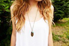 Long Leaf Boho Necklace