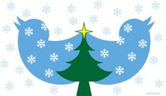 Twitter bird logo hidden Christmas tree #hiddentree artwork: Rolf Halverhout @rhalverhout