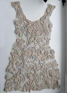 Купить Платье для Ирины - платье, ирландское кружево, винтажный стиль, бежевый, экрю