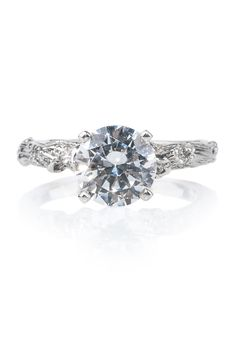 This gorgeous 18kwg twig ring by K. Brunini is ready for your stone. The band is set with .08ctw diamonds that are ready to accent the stone of your choosing. Available at Oster Jewelers! #mydiamondstyle #mybridalstyle