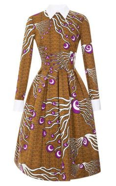 Dericia Printed Full Skirt Dress by Stella Jean for Preorder on Moda Operandi African Print Dresses, African Print Fashion, Africa Fashion, African Dress, Fashion Prints, Fashion Design, Ankara Fashion, African Prints, African Attire
