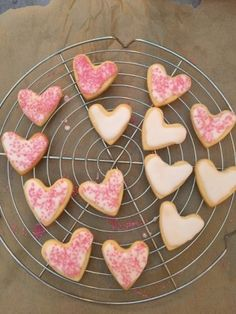 ROSEWATER HEARTS: These delicate, scented cookies have fragrant flavour enough to be eaten alone, but are more than able to take a little light icing/frosting, too. Indeed, they would be pretty fabulous sandwiched, in pairs, with the buttercream of your choice.