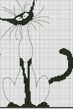 Gallery.ru / Фото #2 - Признаки кошкости - okssi Cross Patterns, Funny Cross Stitch Patterns, Cat Cross Stitches, Siamese, Embroidery Stitches, Le Point, Cat Decor, Crochet, Cross Stitch Animals