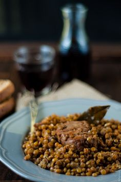 "Stufato di maiale con lenticchie (Guest post by Artemis #Wonderfoodland blog) - New Guest Post recipe on OPSD blog: Lentils and pork stew by Artemis ""Wonderfoodland"" blog ;) [with English version]"