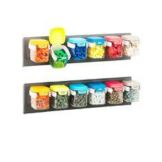 12 bocaux muraux colorés pour rangement visserie - ON RANGE TOUT Shoe Rack, Storage, Canning Jars, Shoe Racks