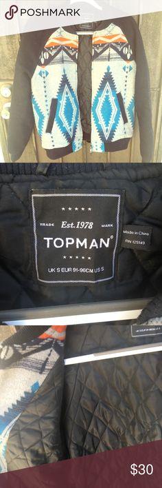 Topman men's small bomber Topman print bomber jacket, men's small. Available to offers. Topman Jackets & Coats Bomber & Varsity