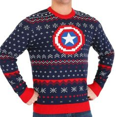 Best mens ugly christmas sweater, New MARVEL CAPTAIN AMERICA UGLY CHRISTMAS KNITTED SWEATER SIZE M. Mens Ugly Christmas Sweater, Ugly Sweater, Jack Skellington Hoodie, Marvel Captain America, Jogger Sweatpants, Christmas Knitting, Sweatshirts, Ebay, Trainers