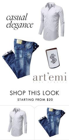 """""""Casual Men"""" by artemi-fine-jewelry ❤ liked on Polyvore featuring men's fashion and menswear"""